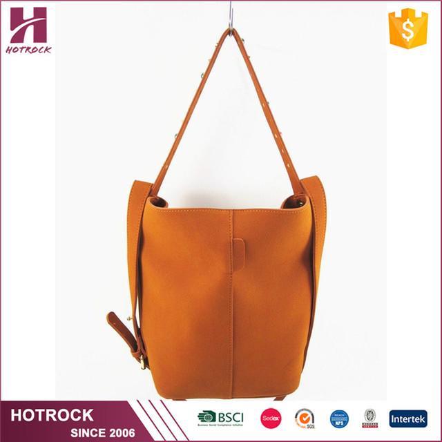 12b54b1eaf Women Large Designer Faux Leather Bucket Handbags PU Leather Shoulder Bags