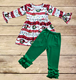 Adorable baby girls holiday clothing set wholesale toddler girl christmas boutique outfits