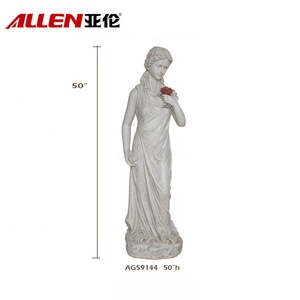 Artificial life size garden decoration fiberglass angel statue