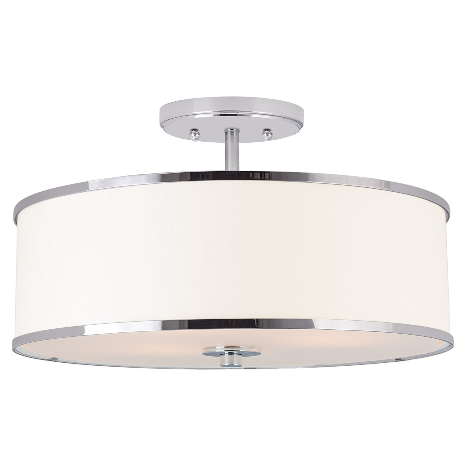 15 Modern Ceiling Light Semi Flush Mount With White Drum Shade Buy Led Shower Lighting Fixtures Round Crystal Chandelier Fashion Hall Led Modern Crystal Chandelier Product On Alibaba Com