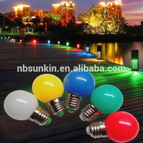 coloured 1W led globe bulb, 1w G45 led bulb light, B22 E27 dimmable led bulb g45 for indoor lighting