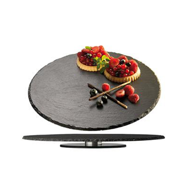 China Custom Natural Slate Serving Lazy Susan Rotating Tray