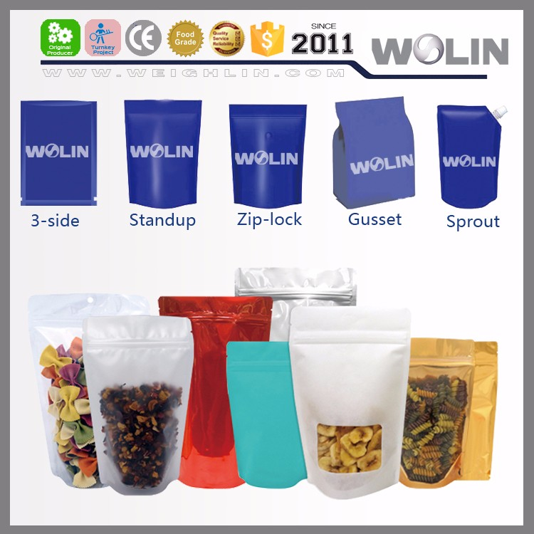 Mini doypack pouch packing machine for sugar, powder, rice, juice