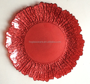 Handmade Wholesale Decorative Red Glass Plate