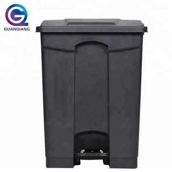 13 gallon trash can sanitary kitchen plastic foot pedal waste recycling bin