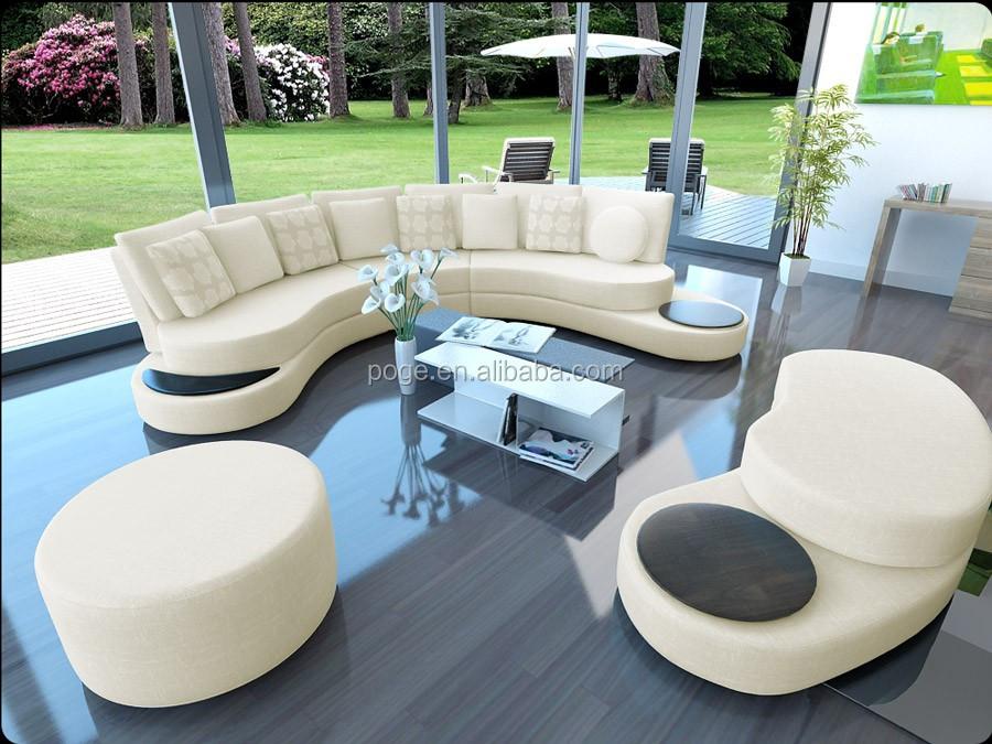Sofa halbrund-geschwungen  Geschwungene Design Ovale Form Ledersofa Runde Sofa A026 - Buy ...