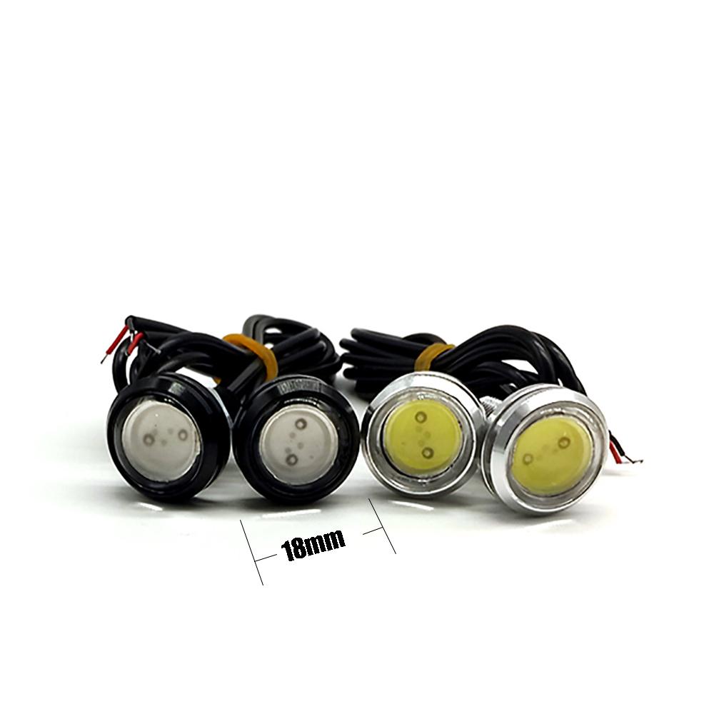 2 шт./упак. 7 Вт 18 мм из светодиодов крючке DRL дневные ходовые огни источник реверсивная парковка сигнальные лампы водонепроницаемый бесплатная доставка