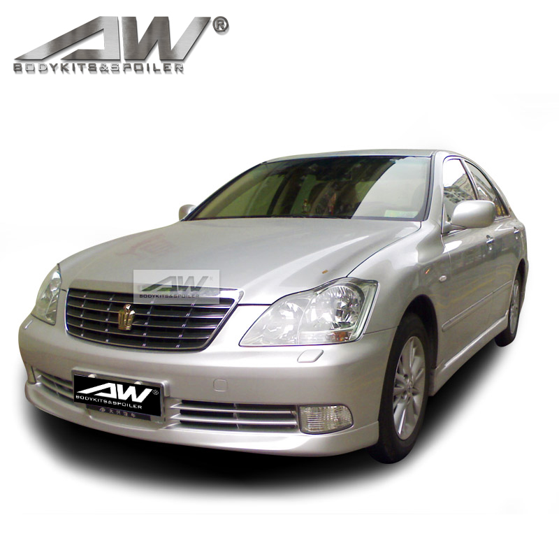 PU/CAR BodyKits Front Bumper Side skirt Rear bumper fortoyota Crown 2005-2009 car body parts modification