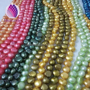 wholesale cheap prices 7-8 mm colorful red green blue yellow baroque irregular dyed freshwater pearls