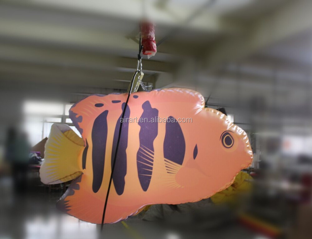 giant fish replicate decor Inflatable bluestripe clownfish