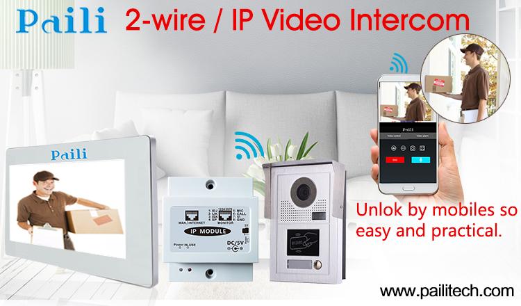Sip Wired Video Intercom Door Bell Support Ios And Android Wifi