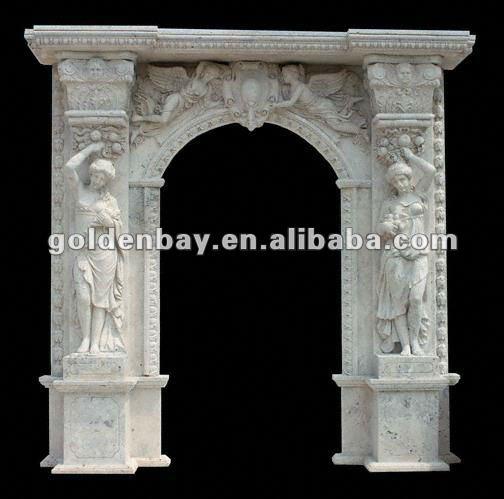 Decorative Stone Arch Marble Door Surround