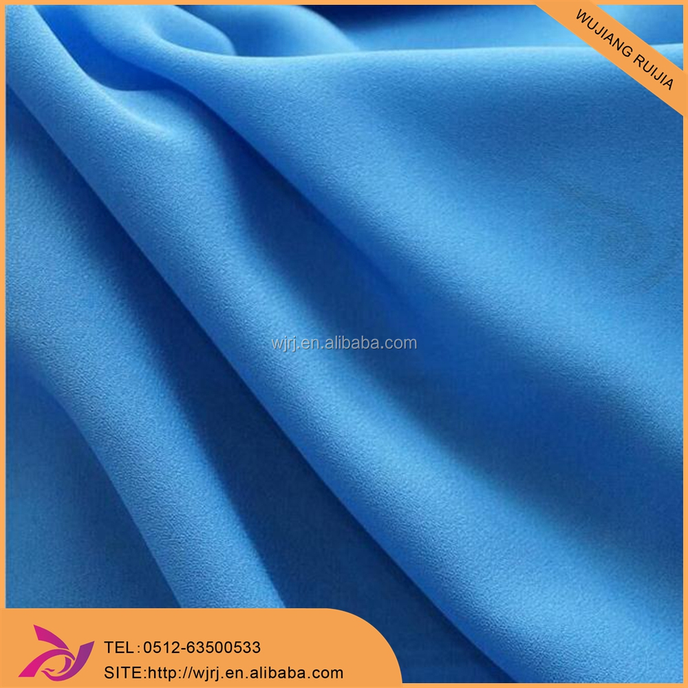 Good Drape And Soft Hand Feeling 75D Polyester moss crepe fabric