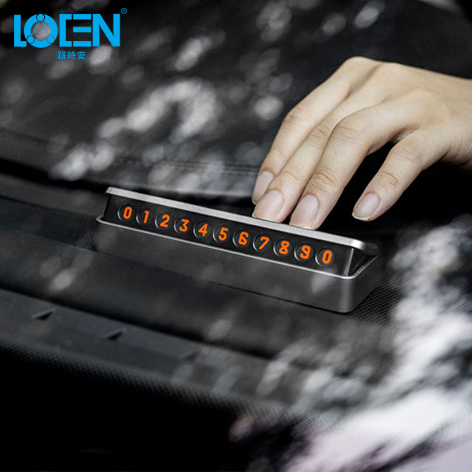 New Upscale Car Sticker Car Temporary Telephone Number Parking Card Hidden Magnetic Drawer style florescent Phone Number Plate