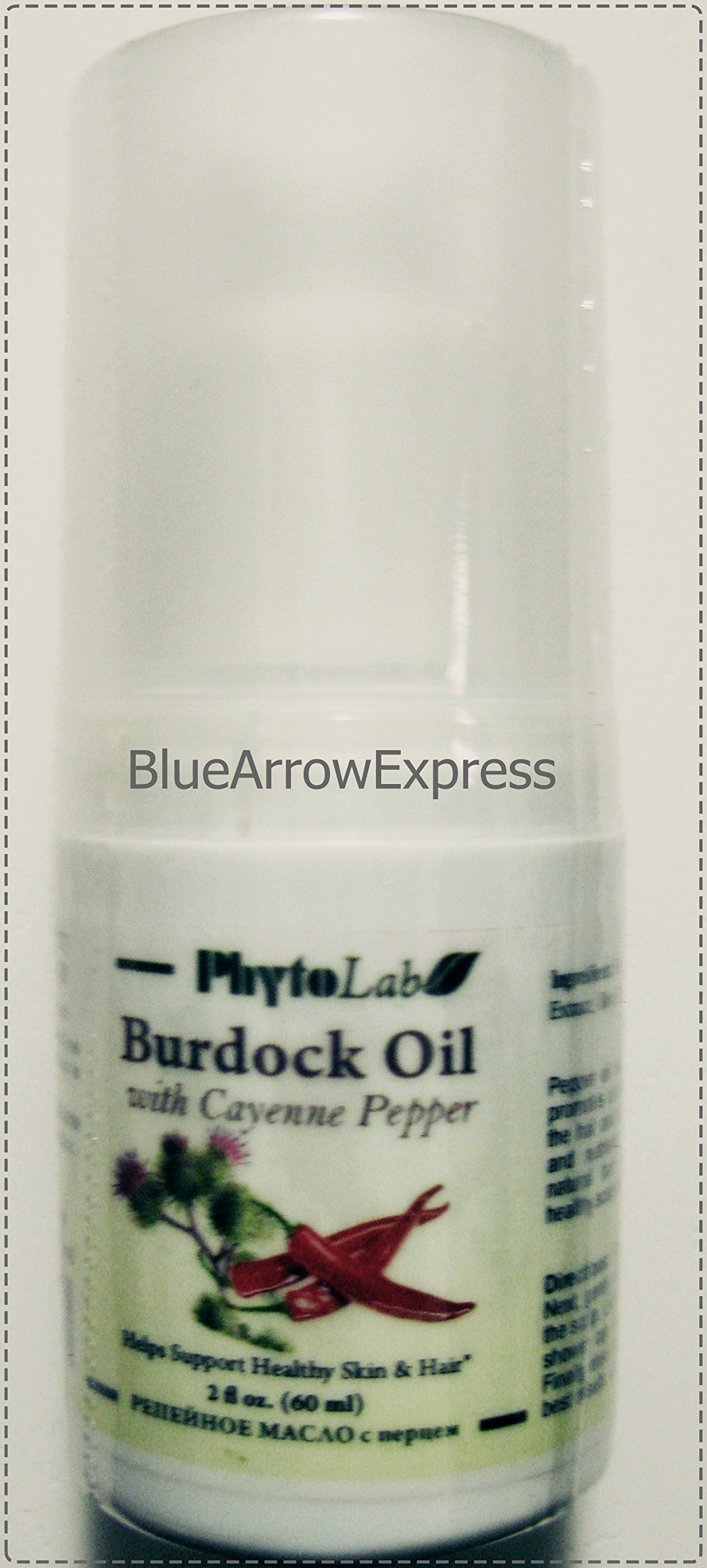 BlueArrowExpress™ Burdock Oil with Cayenne Pepper for Healthy Scalp and Hair 2 fl oz/60 ml