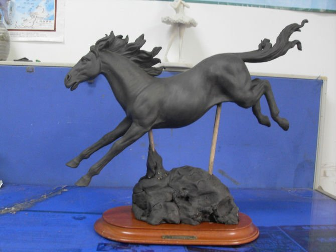 Chinese Clay Horse Model