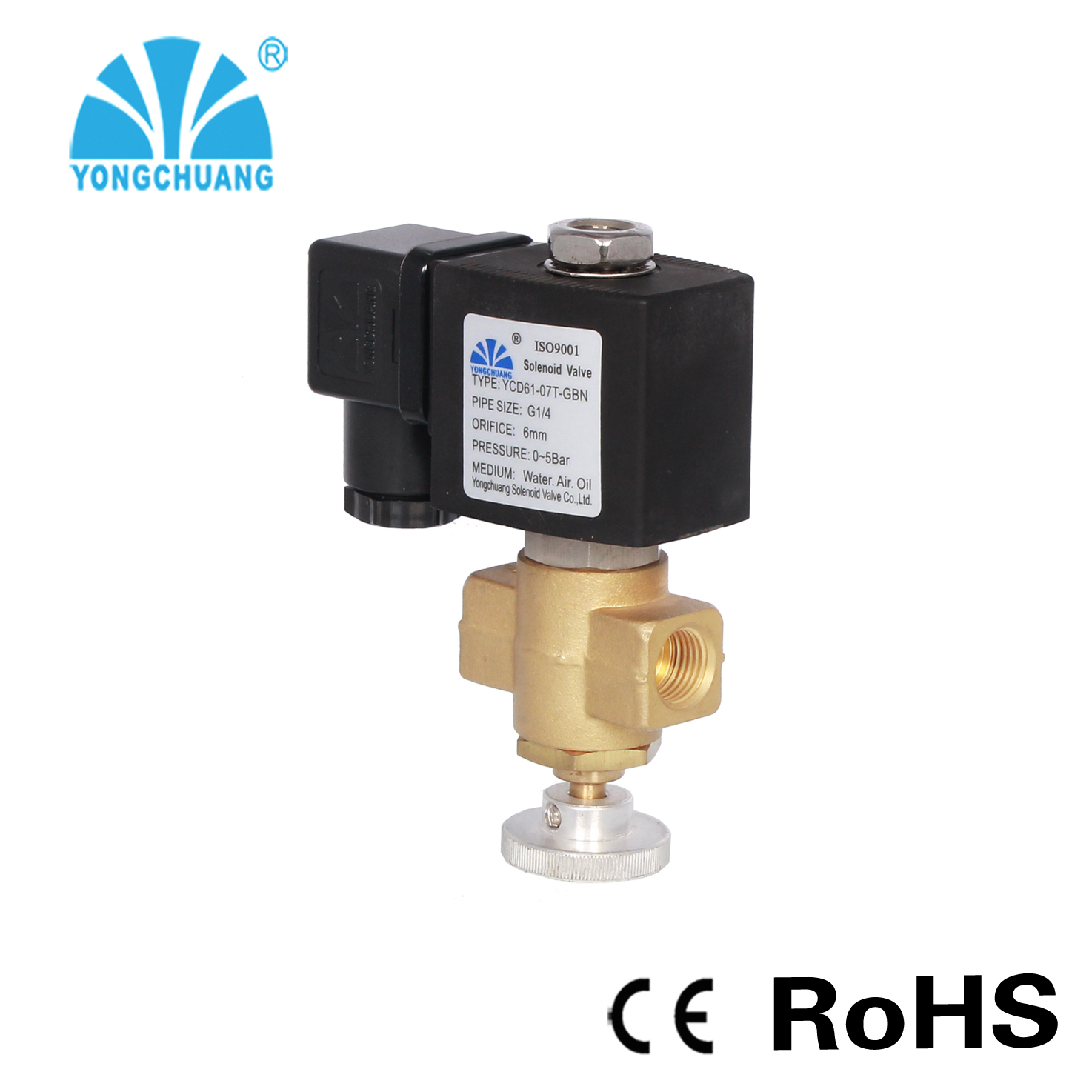 YONGCHUANG YCD61 CE genehmigt einstellbar IPG gas-magnetventil 230 v