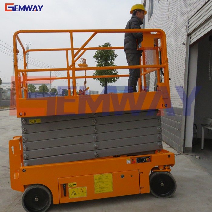 12m Automatic ladder electric lift for warehouse