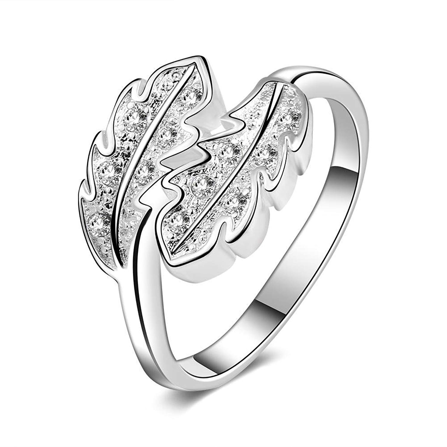 cheap leaf shaped ring find leaf shaped ring deals on line at Leaf Necklace get quotations brino finger ring 2sizes fashionable silver plated copper ring leaf shaped zircon finger jewelry