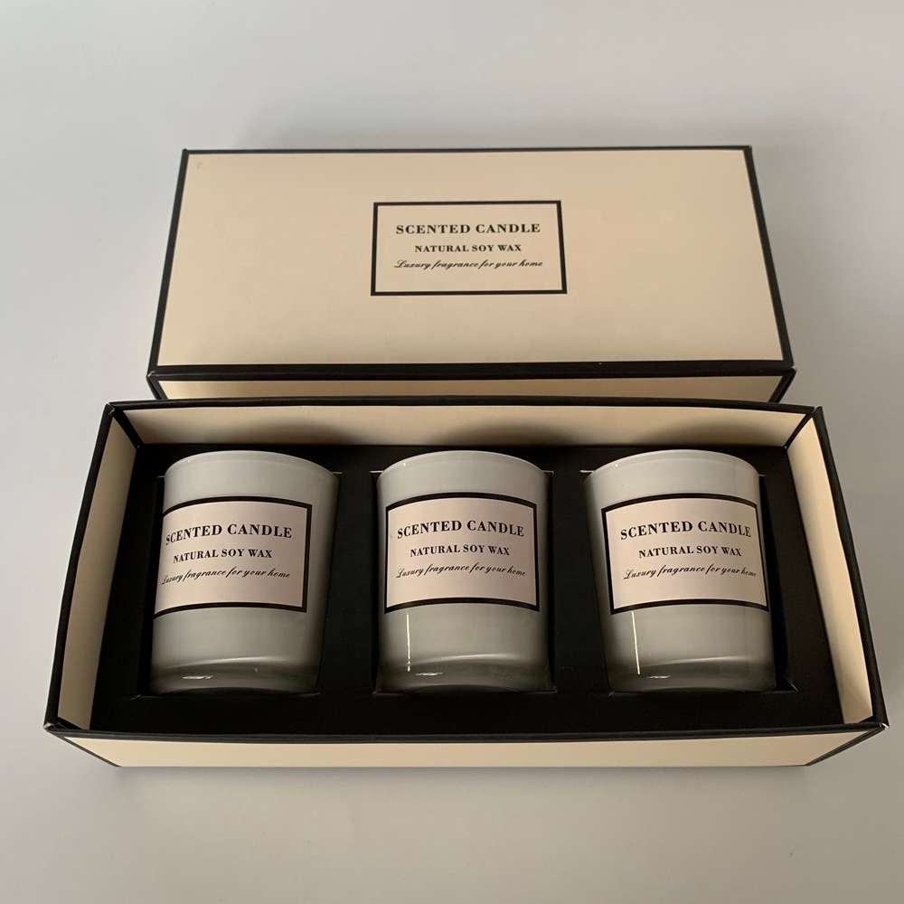 Promotion products Aroma Candle Gift Set 3 pcs candles For holiday 2019