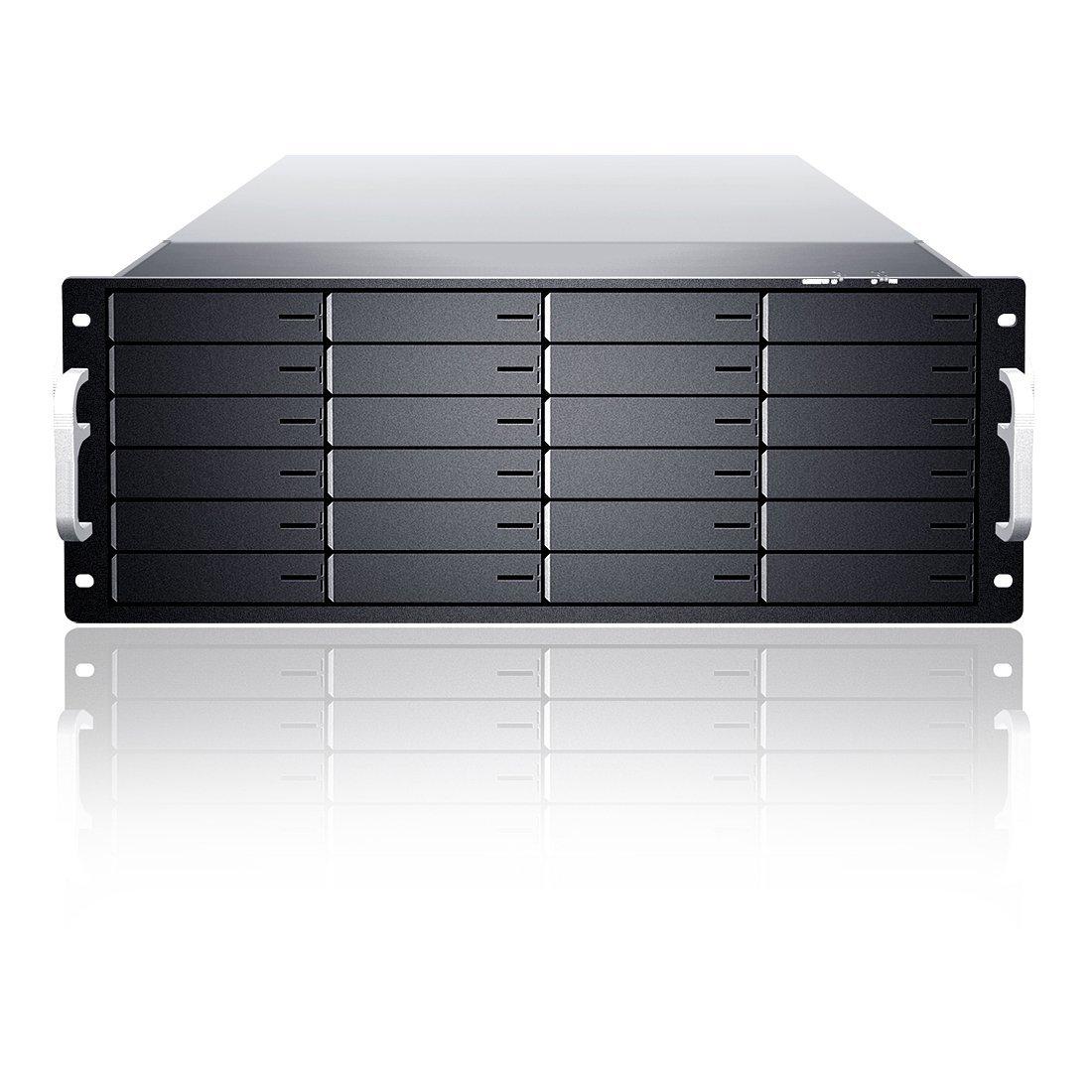 Sans Digital Storage EN424L? 4U 24Bay Xeon Quad Core 6G SAS/SATA2 RAID 60NAS? Brown Box