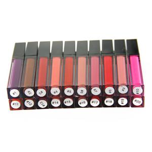 Customize private label 20 colors lipstick/lipgloss liquid matte makeup lip stick for Ladies