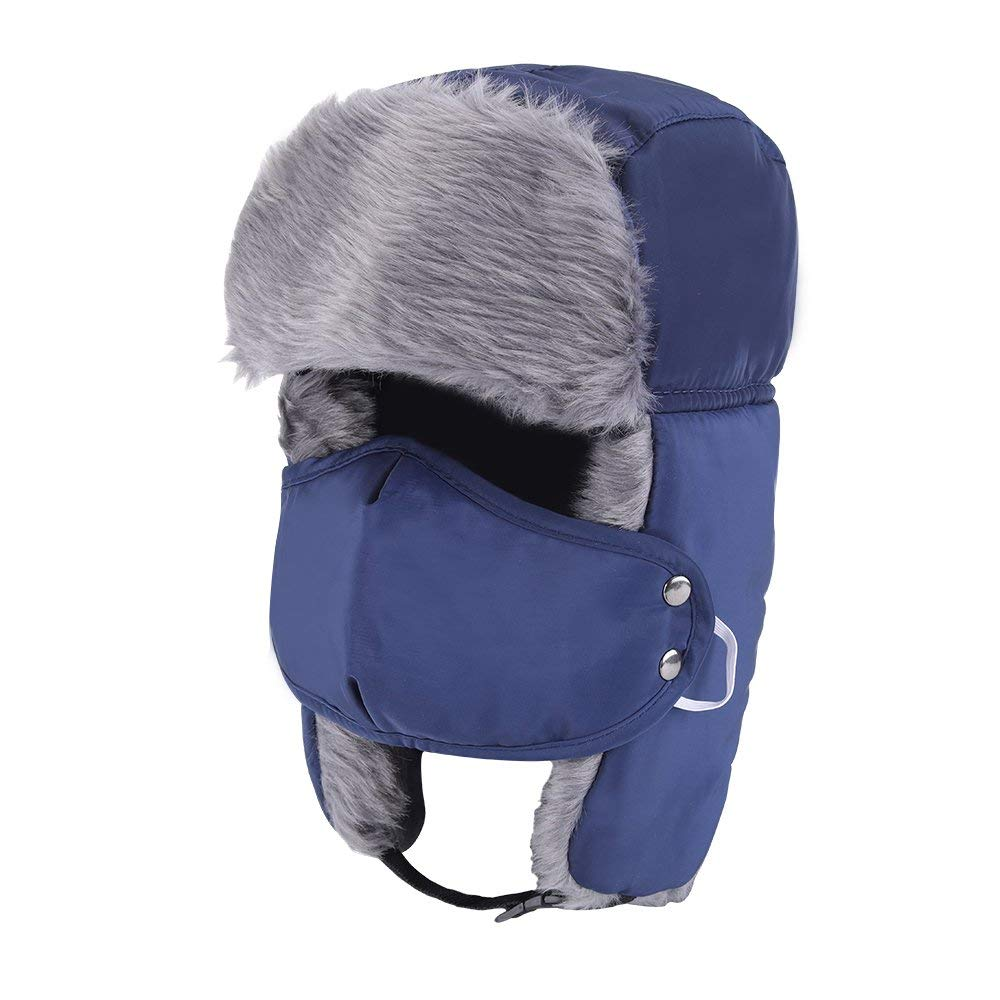 c83ecc04c72 Get Quotations · Prooral Unisex Winter Trooper Trapper Hat Hunting Hat  Ushanka Ear Flap Chin Strap and Windproof Mask