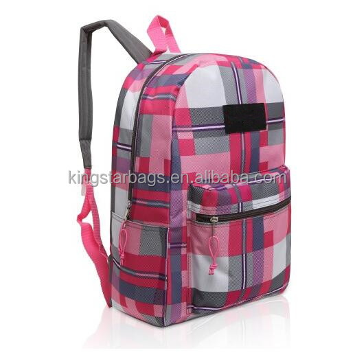 Colorful Line screen printed wholesale backpack for college students