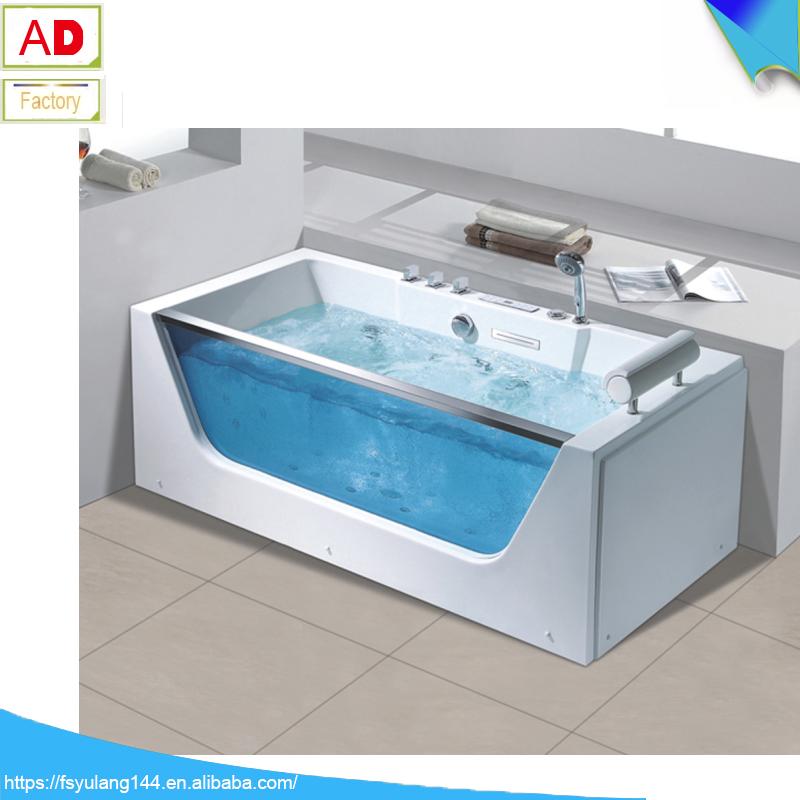 Ad-1703 Wholesale Price Bathroom Glass Bathtub Large Length Bathtub ...