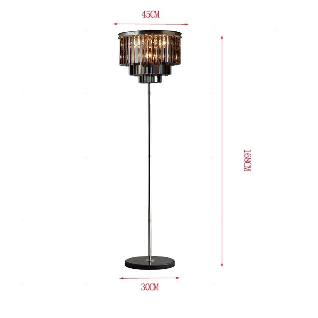 DEED Floor Lamp-Led Crystal Floor Lamp American Style Modern European Style Simple Creative Living Room Bedroom Vertical Floor Lamp Eye Protection Vertical Table Lamp