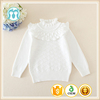 Handmade Knitting Sweaters For Infants White Long Sleeves Pullovers For Newborn Babies