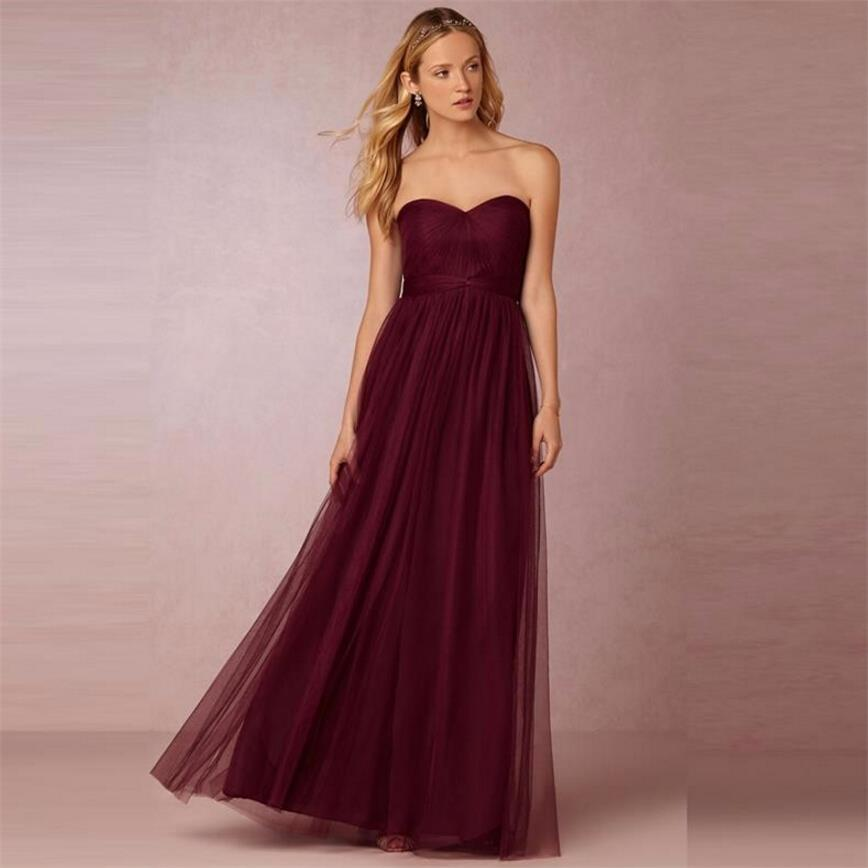 Cheap Plus Size Wedding Gowns Under 100: Under 100 Sexy Burgundy Long Bridesmaid Dresses Plus Size