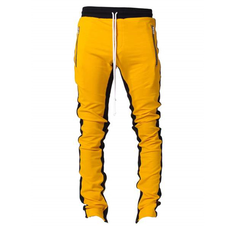 Joggers sports pants contrast side stripe long drawstring custom mens track pants фото