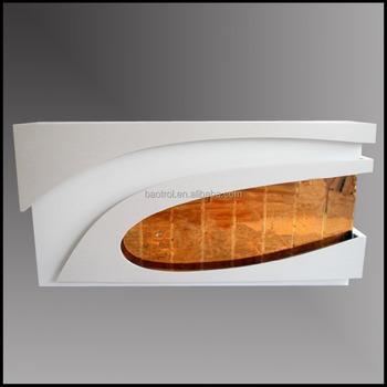 Office Reception Desk Design Solid Surface Front