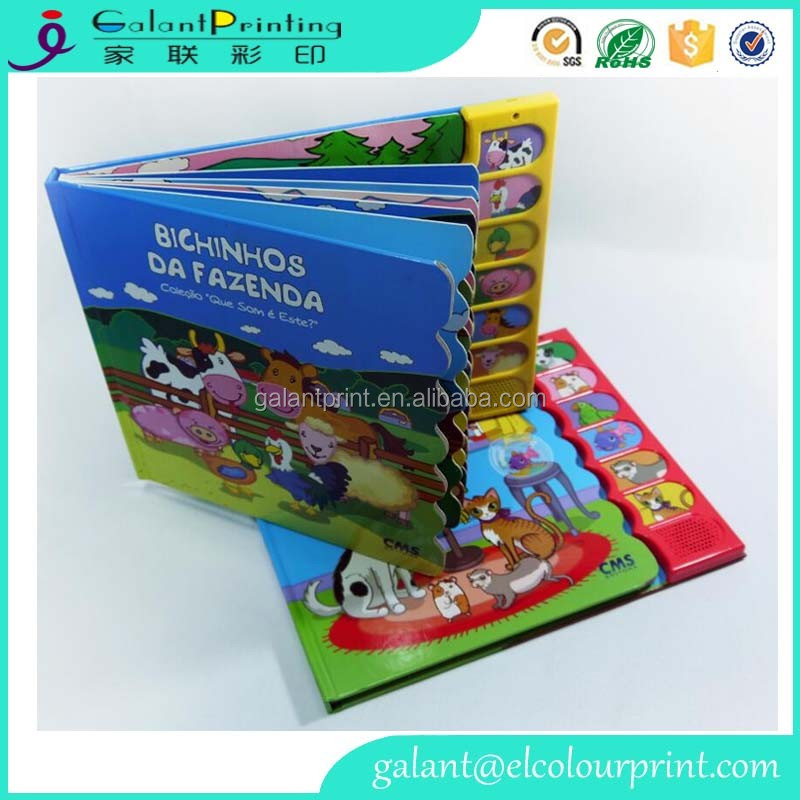 Cardboard board book children educational preschool books easy english stories book printing