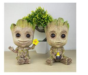 Resin cute Cartoon Marvel Bay Groot resin pen pencil holder desk