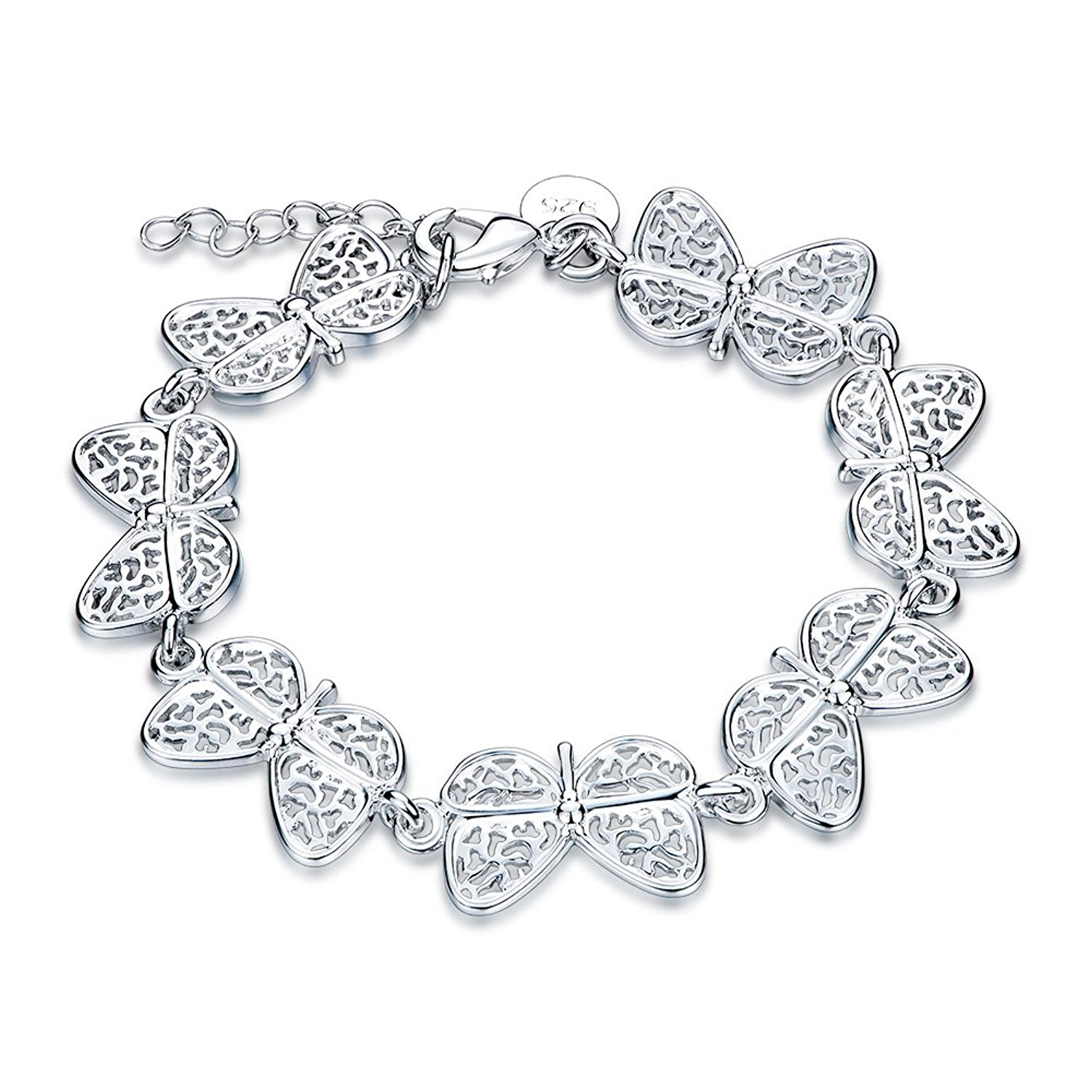 Women Fashion Charms Jewelry Plate With Silver Classic Insect Cable Chain Bracelets