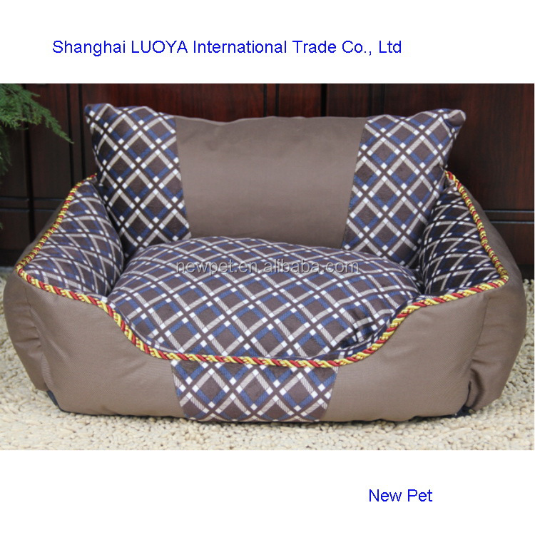 Most popular attractive fashion monoclinic lattice bed unique dog houses with back