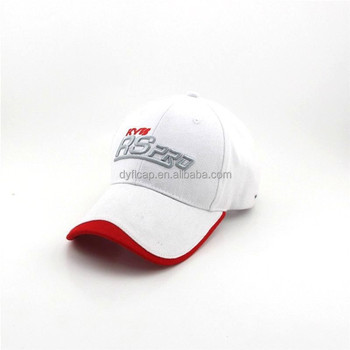 Sports Tennis Logos Custom 6 Panel Baseball Full Brim Hard Hat ... d36c654c458