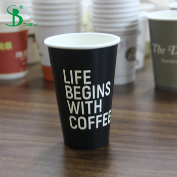 10oz Black To Go Coffee Cups With Lids From Disposable Paper China Factory
