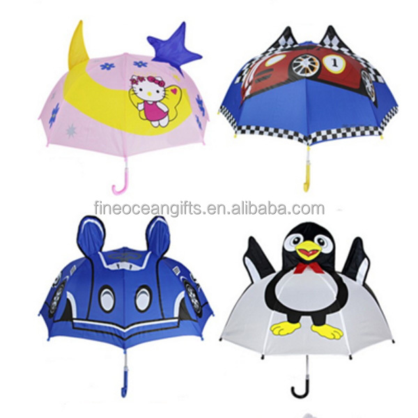 Japan market plain animal pictures print decoration small umbrella for kids