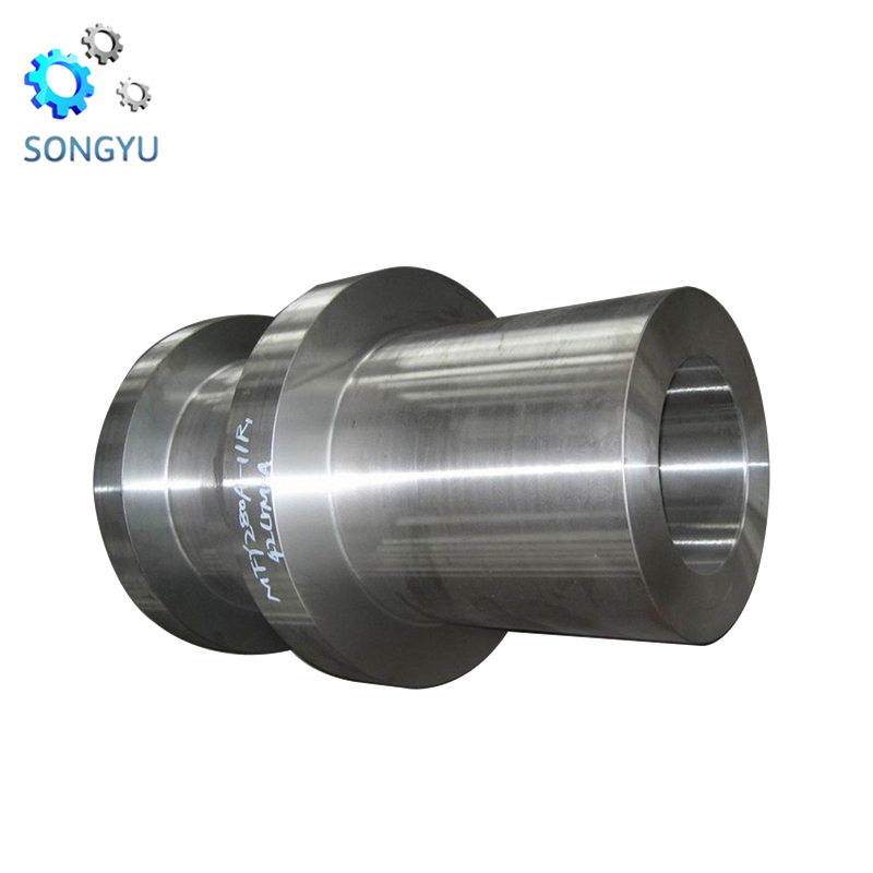 Mechanical big module forged steel hollow shaft for crushing machine