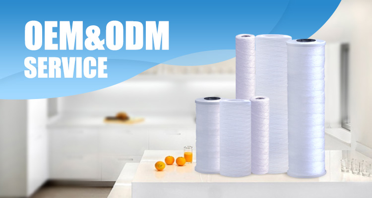Bestpure High Quality 20 Inch PP Sediment String Wound Water Filter Cartridge