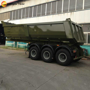 Best Selling low price Triple axles rear side dump tipper truck trailer