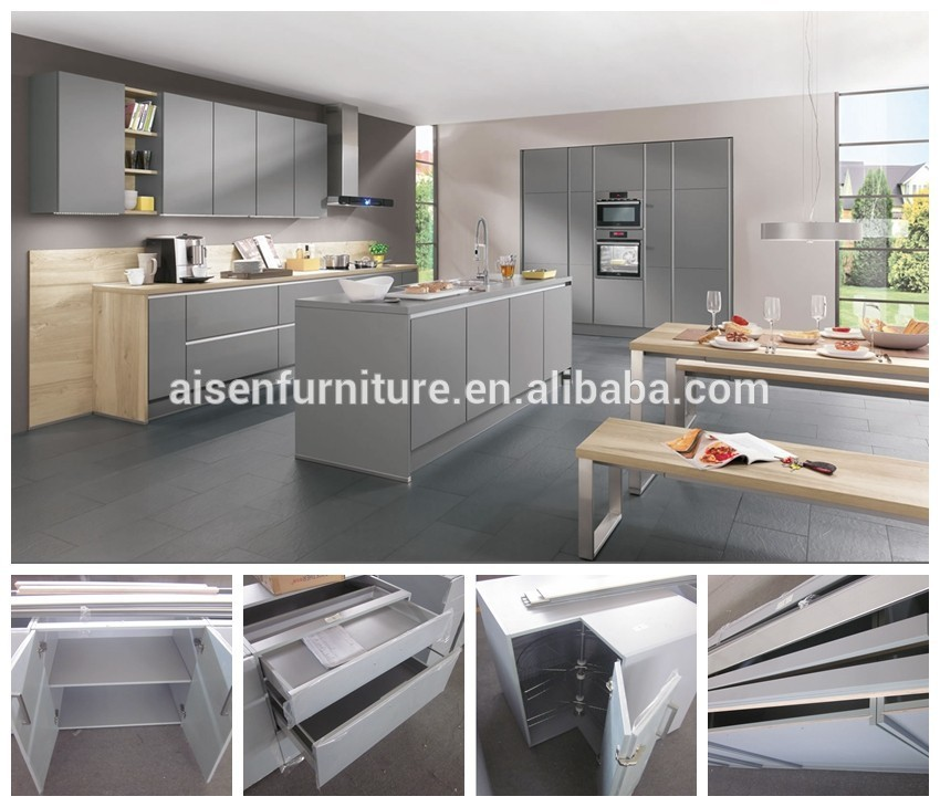 Gray High Gloss Lacquer Kitchen Cabinet  Buy Lacquer Kitchen Cabinet