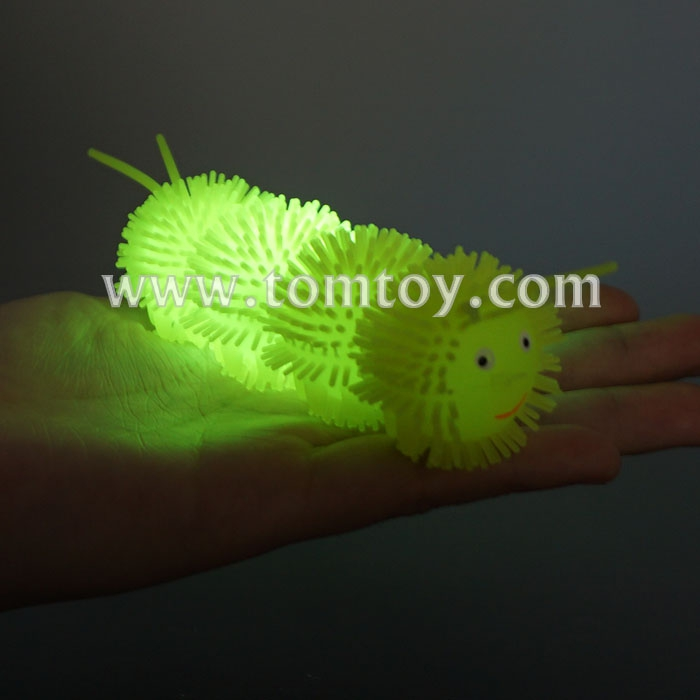 2018 Led Light Up Squeezing Caterpillar Puffer Toy