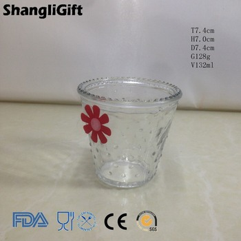 Clear Round Glass Flower Pot For Home Daily Use
