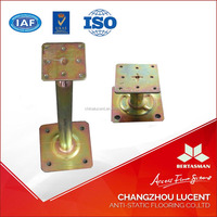 Steel raised floor support pedestal
