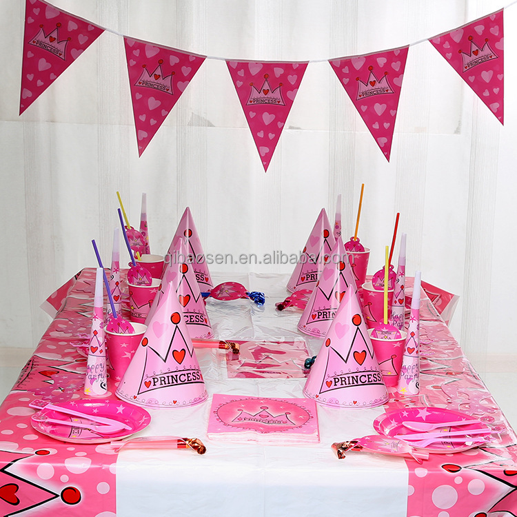 90pcs Tableware suit for kids birthday party theme decorations- decorate room birthday party