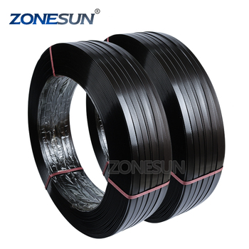 ZONESUN aluminium extruded sections electronic brick fiber bale mattress metal ingot  packing PET strap cage band rolls supply